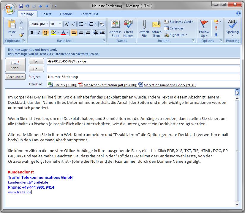 Email Zu Fax